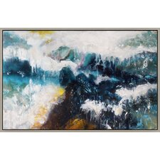Whitecaps Framed Painting Print on Canvas