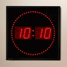 "Dundalk 11"" LED Digital Square Dot Wall Clock"