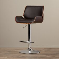 Rudgeway Adjustable Height Swivel Bar Stool with Cushion