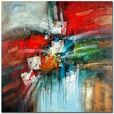 """""""Cube Abstract IV"""" Painting Print on Canvas"""