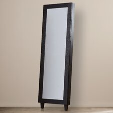 Elijah Wall Mounted Jewelry Armoire with Mirror