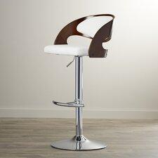 Gwynne Adjustable Height Swivel Bar Stool with Cushion