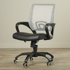 Beach Mid-Back Leather Office Chair