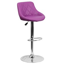 Clarissa Adjustable Height Swivel Bar Stool with Cushion