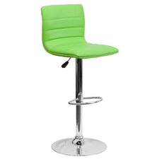 Caius Adjustable Height Swivel Bar Stool with Cushion