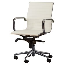 Cruz Mid-Back Leather Office Chair