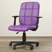 Ceil Adjustable Mid-Back Leather Office Chair
