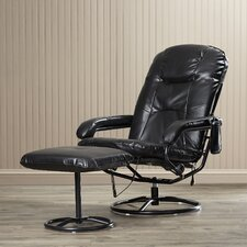 Bronson Leisure Heated Reclining Massage Chair with Ottoman