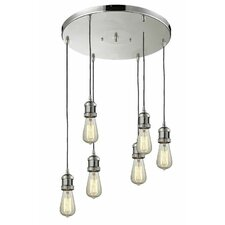 Bare Bulb 6 Light Pendant