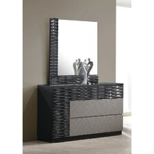 Romania 4 Drawer Dresser with Mirror