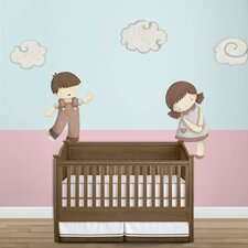 Dolls and Cloud Wall Stickers