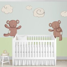 Teddy Bears and Cloud Wall Stickers