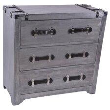 Aluminum Veneer 3 Drawer Cabinet