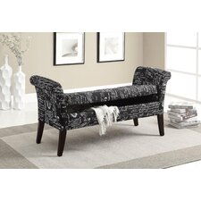 Tufted Fabric Storage Bench