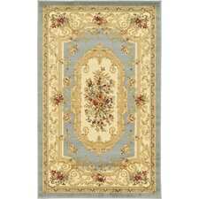 Versailles Light Blue/Cream Area Rug