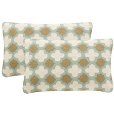 French Country Quatrefoil Pillow Set (Set of 2)