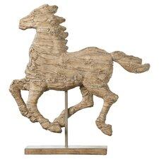 Horse Statuette in Beige