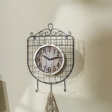 Wall Clock Metal Basket