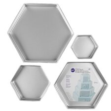Hexagon Aluminum 4 Piece Bakeware Set