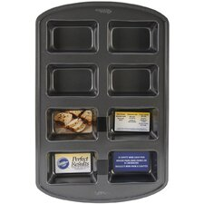 Non-Stick 8 Cavity Loaf Pan