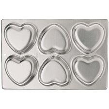 6 Cavity Heart Mini Cake Mold Pan