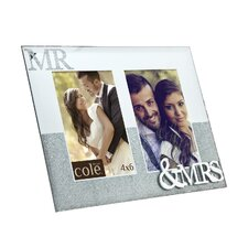 Mr.& Mrs. Double Mirror Picture Frame