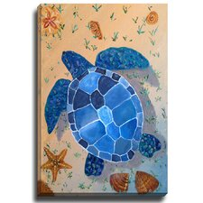 Turtle by Patch Wihnyk Graphic Art on Canvas