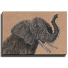 Elephant by Patch Wihnyk Painting Print on Canvas