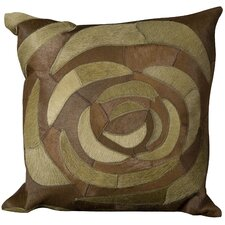 Natural Leather and Hide Throw Pillow