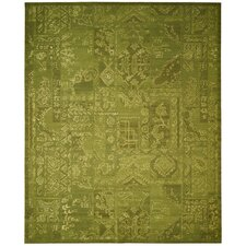 Silk Infusion Green Area Rug
