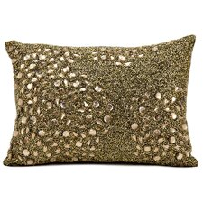 Luminescence Beaded All Over Throw Pillow