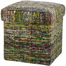 Cubes Woven Fabric Collapsible Storage Ottoman