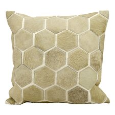 Natural Leather and Hide Leather Throw Pillow