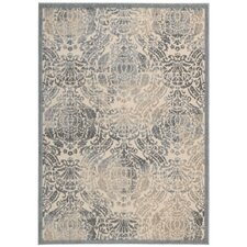 Graphic Illusion Sky Blue/Ivory Area Rug