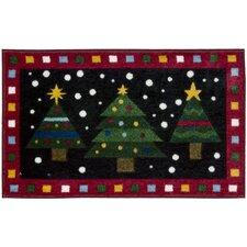 "Décor Red ""3 Christmas Trees"" Area Rug"