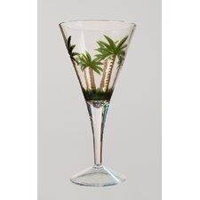 Palm Tree V Shape Wine Glass (Set of 4)