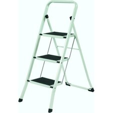 3-Step Folding Steel Step Stool with 200 lb. Load Capacity