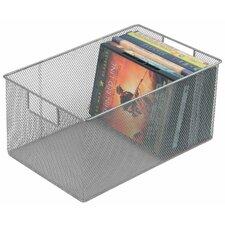 Mesh Open Bin Storage Basket DVD Cd Book Holder Closet Cabinet Organizer