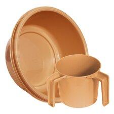 Round Wash Cup and Wash Basin Set