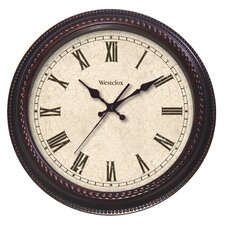 "20"" Round Marbled Case Roman Numeral Wall Clock"