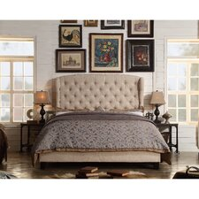 Feliciti Upholstered Tufted Bed with Wingback