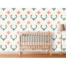 Antlers Panel Wallpaper