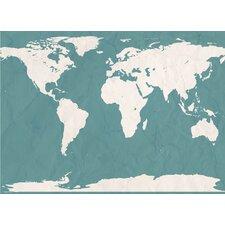 World Atlas Map Wall Mural