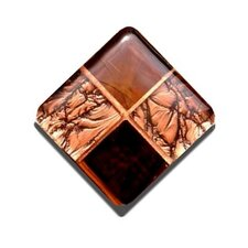 Copper Penny Stained Glass Cabinet Knob
