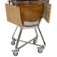 KAMADO Stainless Steel Cart with Side Shelves