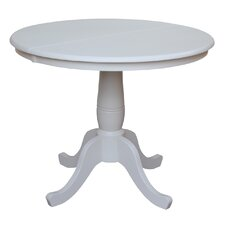 Round Pedestal Extendable Dining Table