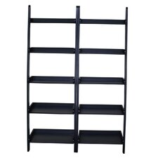 "75.5"" Leaning Bookcase"