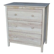 Shaker Style  3 Drawer Chest
