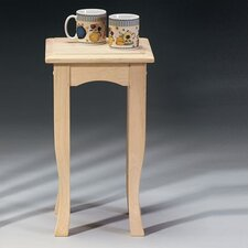 Short Wood End Table