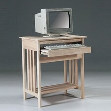 Unfinished Wood Mission Computer Desk